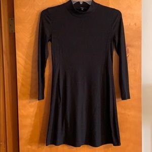 Madewell - black mock neck dress